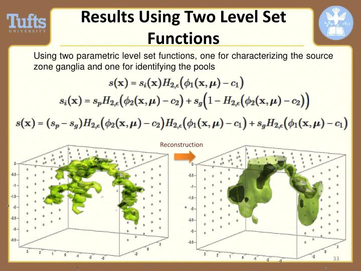 Results Using Two Level Set Functions