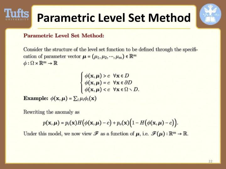 Parametric Level Set Method