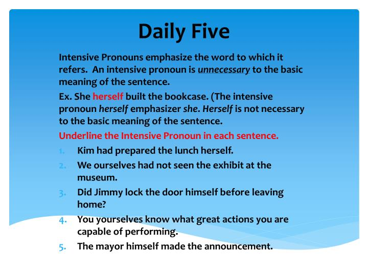 Daily five2