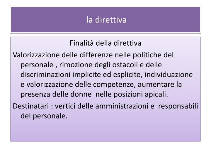 La direttiva1