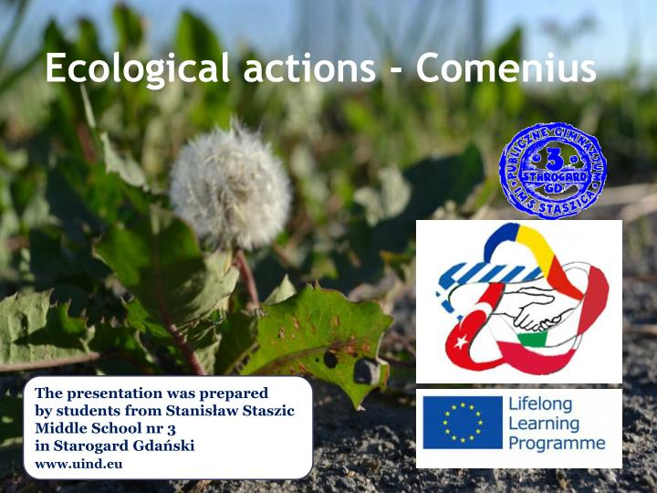 ecological actions comenius n.