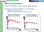 ampt p p simulation
