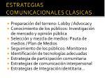 estrategias comunicacionales cl sicas