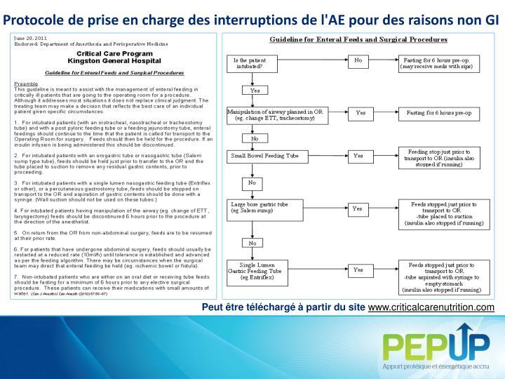 Protocole de prise en charge des interruptions de l'AE pour des raisons non GI