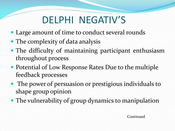 DELPHI  NEGATIV'S