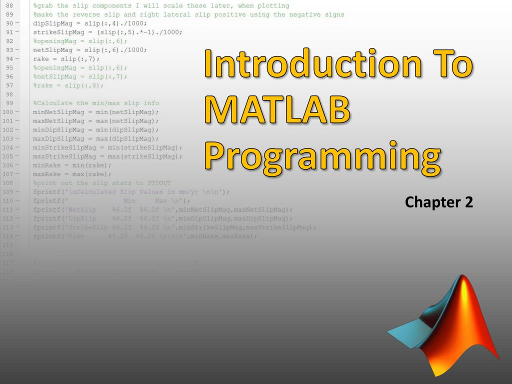 PPT - Introduction To MATLAB Programming PowerPoint
