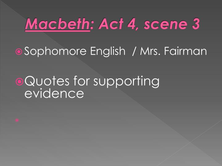 macbeth importance of act 1 scene 1 Free essay: macbethact , scene 1 and 2 about the play: in 1606, william shakespeare wrote a play, macbeth, which has gone down in history as one of the.