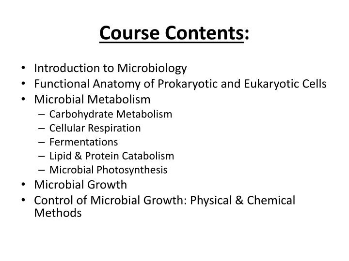 course contents n.