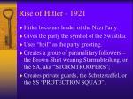 rise of hitler 1921