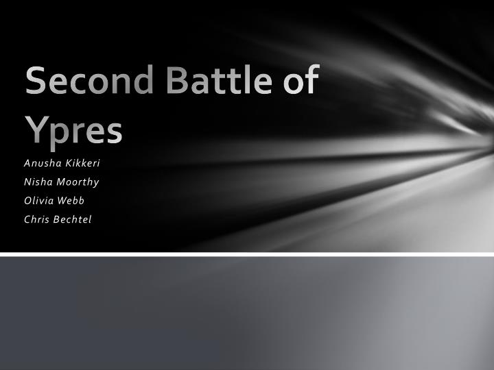 second battle of ypres n.