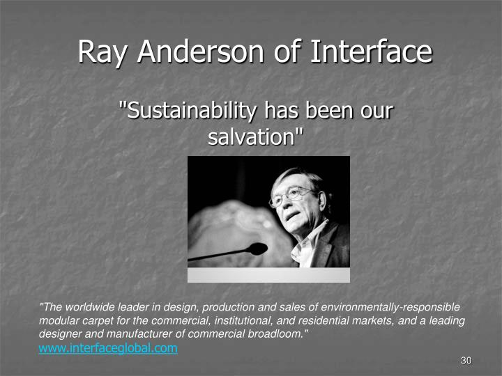 Ray Anderson of Interface