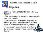 es para los estudiantes de kindergarten