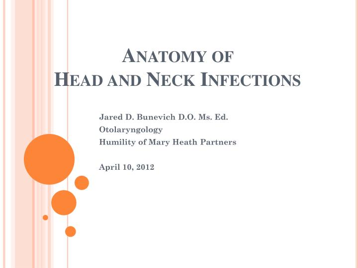 anatomy of head and neck infections n.
