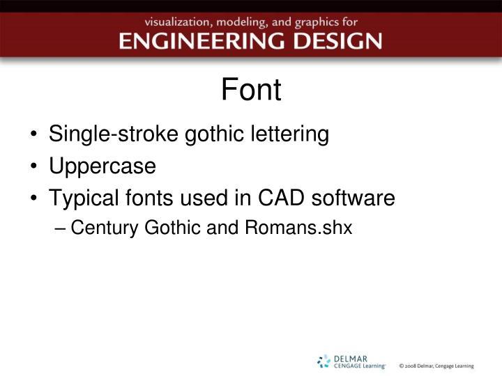 Single Stroke Gothic Lettering