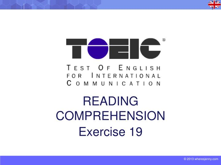 reading comprehension exercise 19 n.