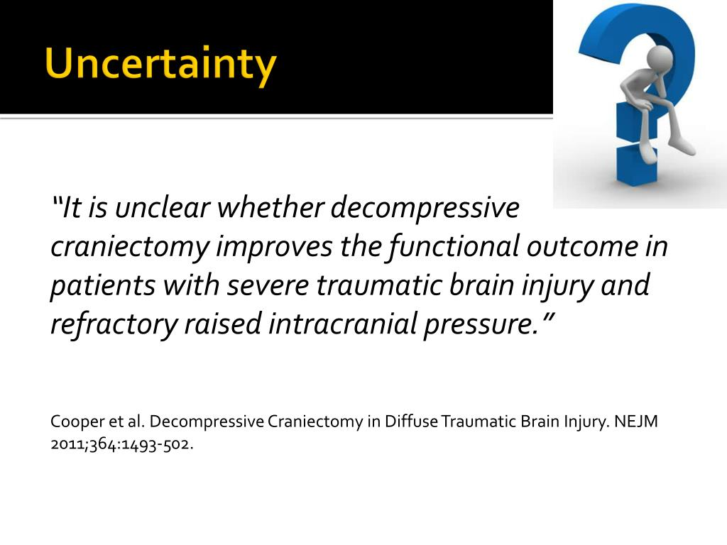 PPT - Decompressive Craniectomy in Severe Traumatic Brain