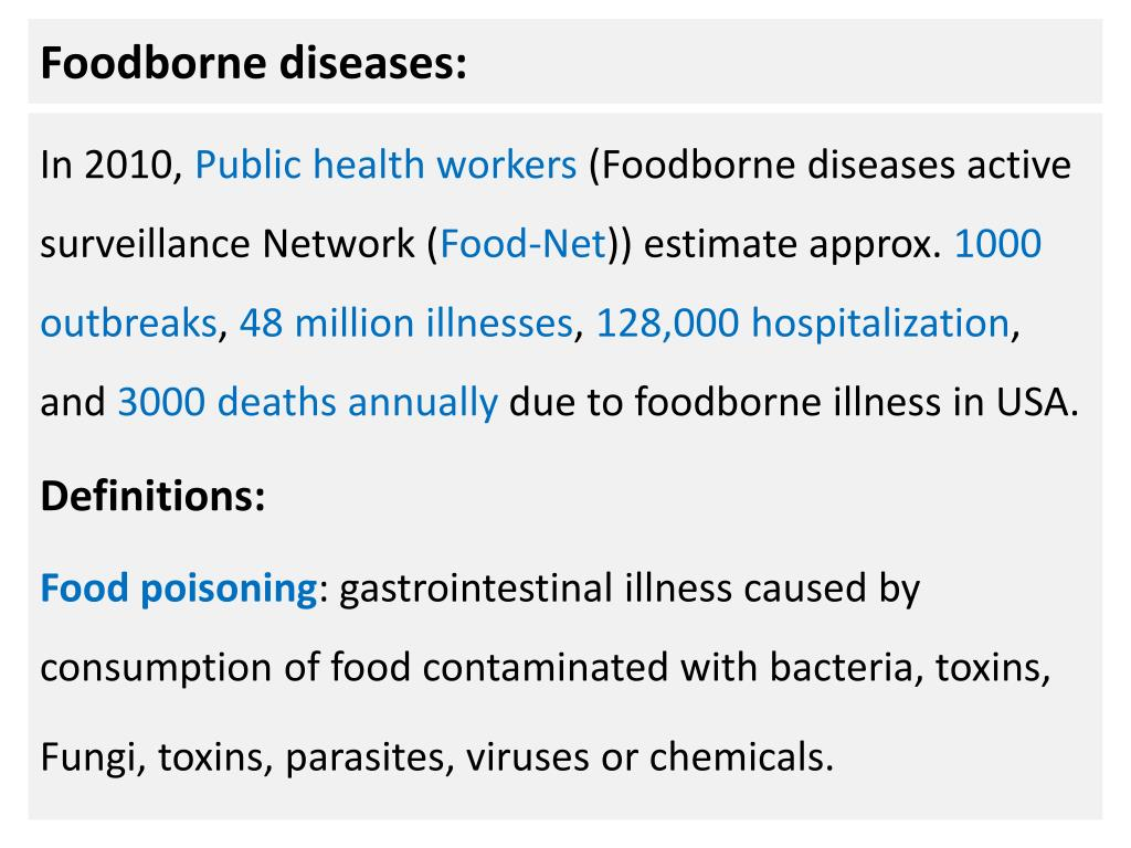ppt - foodborne diseases: powerpoint presentation - id:2283011