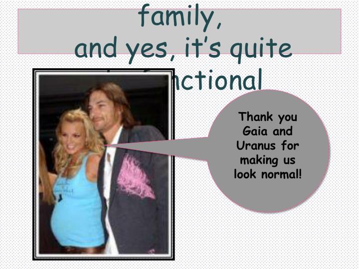 Gaia & Uranus start a family,