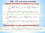 cme cse and axial anomaly