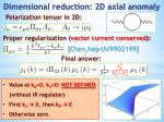 dimensional reduction 2d axial anomaly