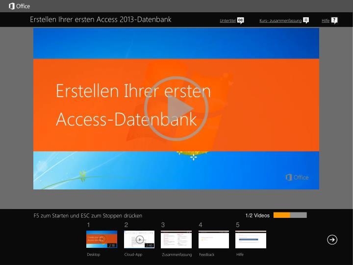 Erstellen Ihrer ersten Access 2013-Datenbank
