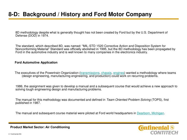 Ppt asq memphis origin of 8 discipline corrective action for Ford motor company history background