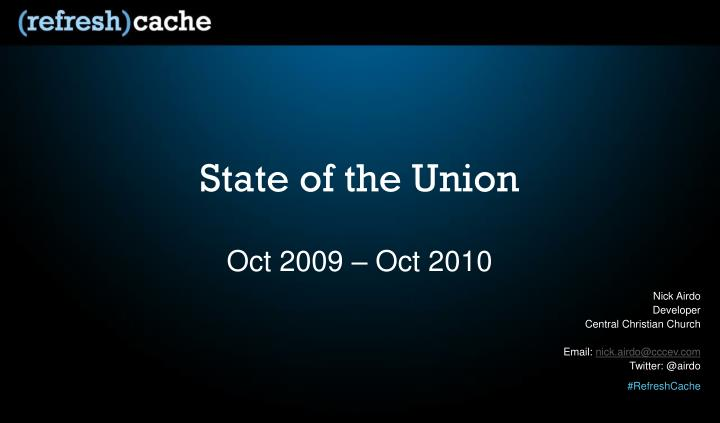 state of the union n.