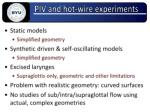 piv and hot wire experiments