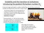 instability and the transition to turbulence introducing the gradient richardson number ri g