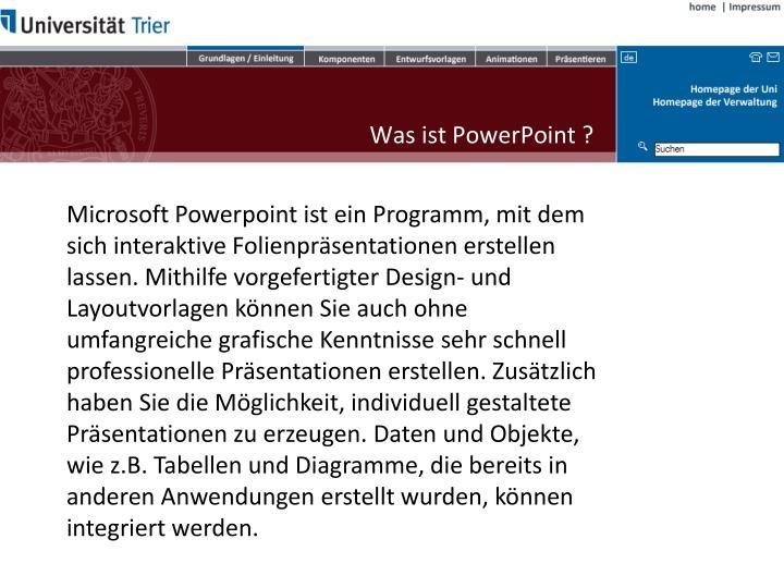 Was ist PowerPoint ?