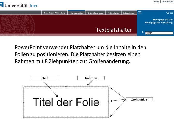 Textplatzhalter