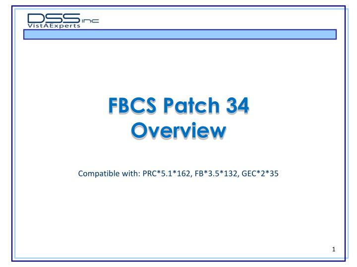 fbcs patch 34 overview n.