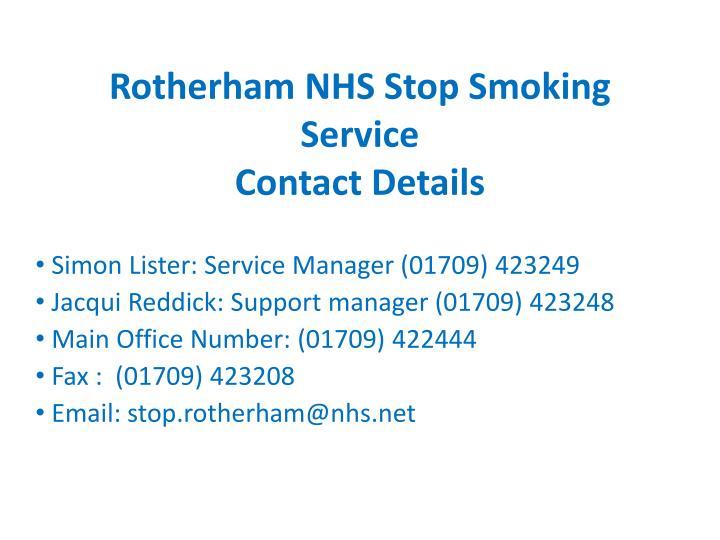 Rotherham NHS Stop Smoking Service