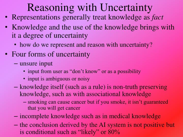 reasoning with uncertainty n.