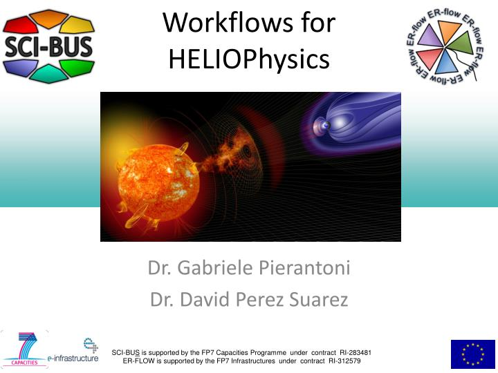 workflows for heliophysics n.