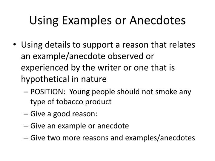 79 Examples Of Anecdotes