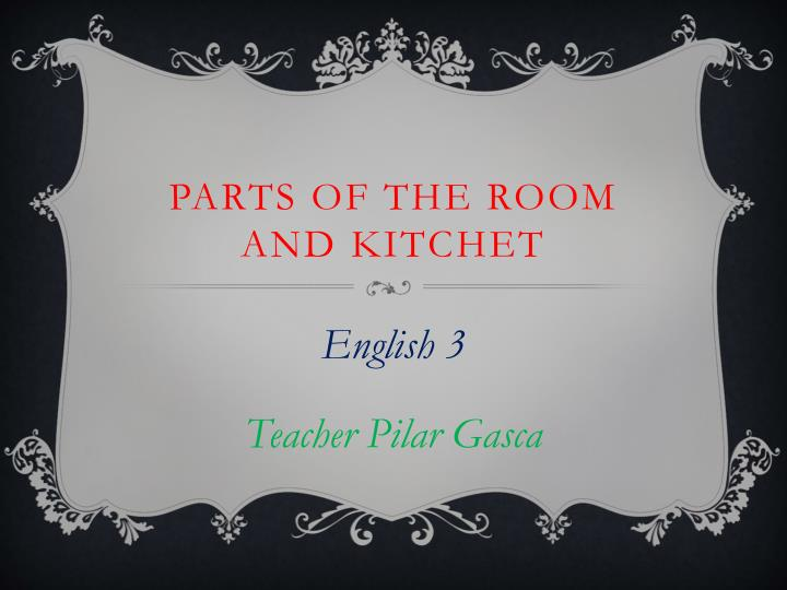 parts of the room and kitchet n.