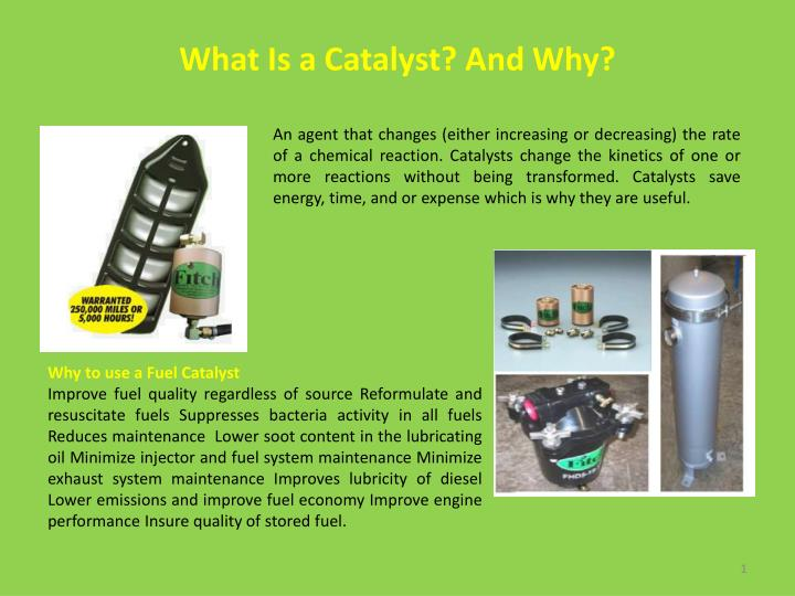 what is a catalyst and why n.