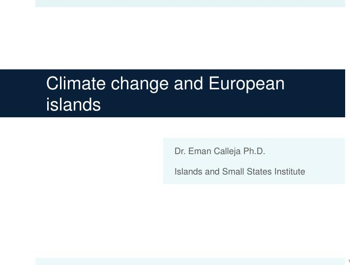 climate change and european islands n.