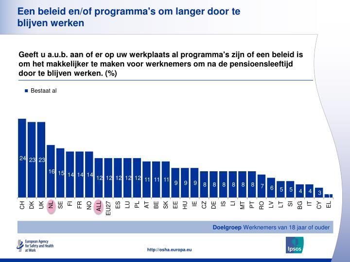 Een beleid en/of programma's om langer door