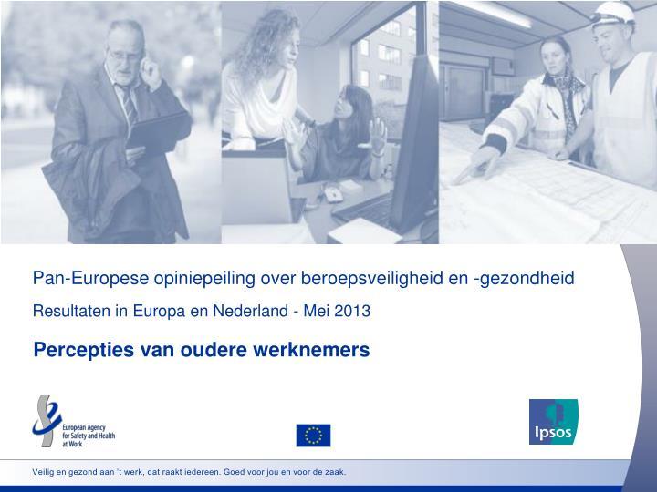 Pan-Europese opiniepeiling over beroepsveiligheid en -gezondheid