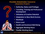possible stakeholder concerns acquisition project1