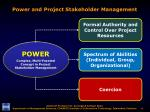 power and project stakeholder management