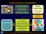 project impact on stakeholders