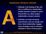 stakeholder attribute attitude