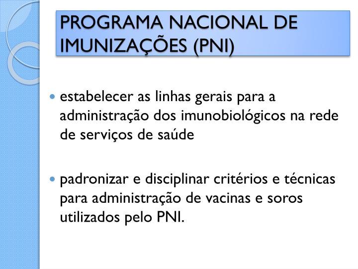 Programa nacional de imuniza es pni1