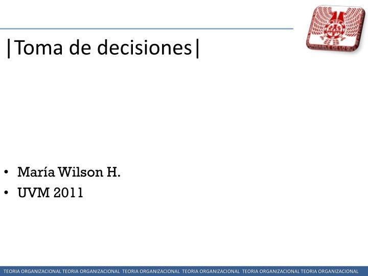 |Toma de decisiones|