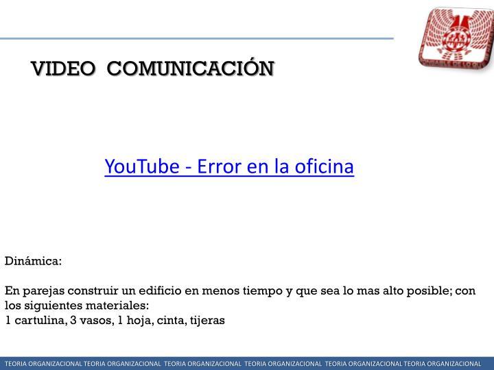 VIDEO  COMUNICACIÓN