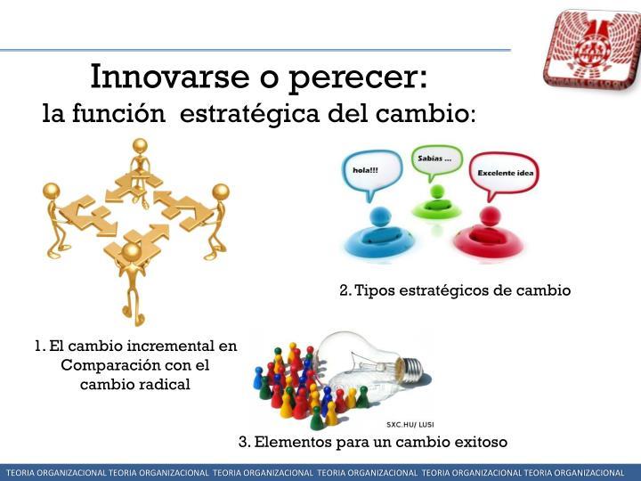 Innovarse o perecer: