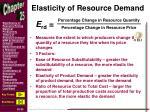elasticity of resource demand